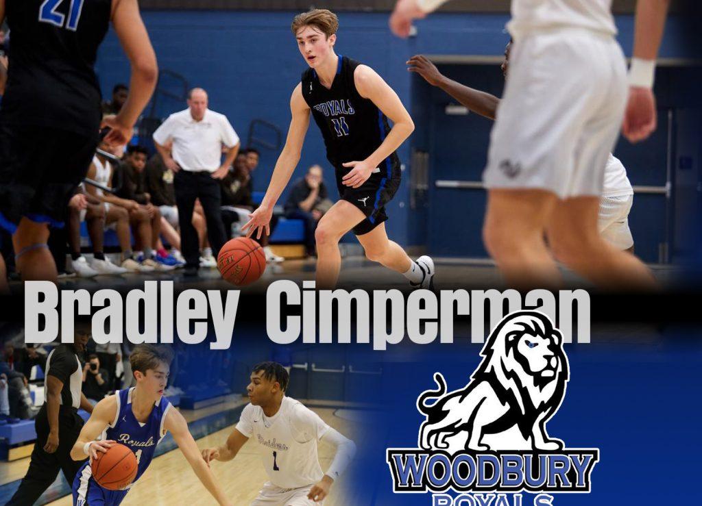 Bradley Cimperman Woodbury High School Basketball player